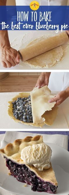 Blueberry pie is always better with a scoop of vanilla ice cream. This blueberry pie recipe is a perfectly simple dessert.