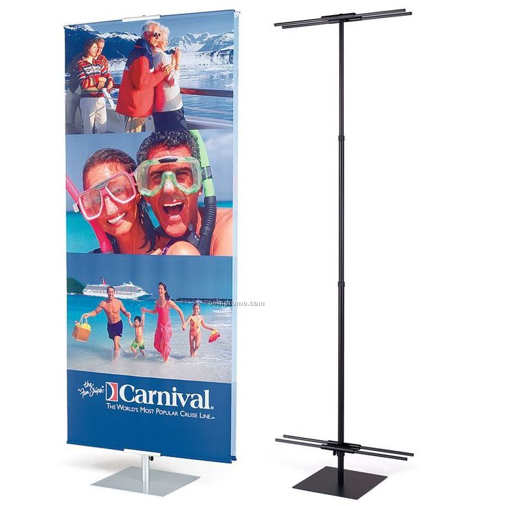 Banner And Stand Set W/One 1-sided Recycled Polyester Banner (3'x8')