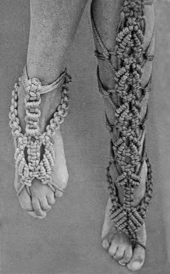 DIY Inspiration -Macrame Feet