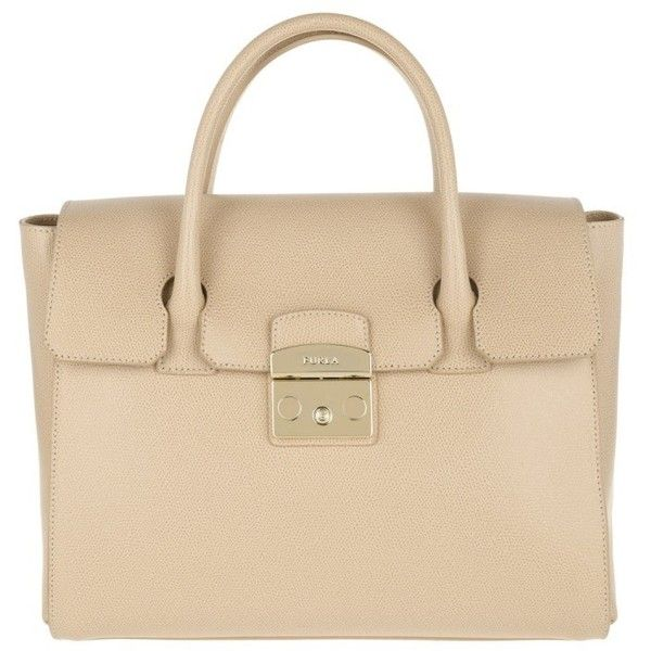 Furla Handle Bag - Metropolis Tote Bag Medium Acero - in beige -... ($445) ❤ liked on Polyvore featuring bags, handbags, tote bags, beige, tote purses, locking purse, furla tote bag, beige handbags and handbags tote bags