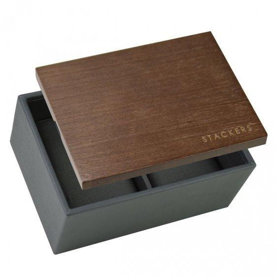 MINI box pánsky na hodinky s dreveným vrchnákom