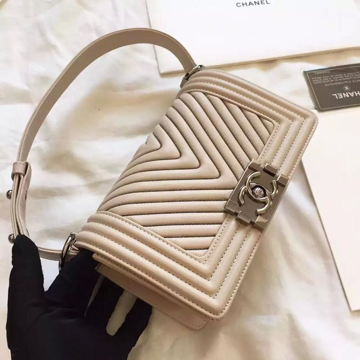 Chanel LeBoy original calfskin beige