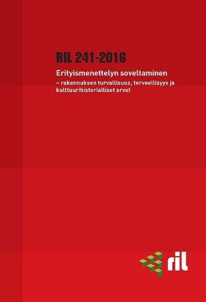 RIL 241-2016 Erityismenettelyn soveltaminen : rakennuksen turvallisuus, terveellisyys ja kulttuurihistorialliset arvot, 2016. Erityismenettelyn laadunvarmistustoimenpiteiden tarkoituksena on ollut parantaa erityisesti rakennushankkeen rakenteellista turvallisuutta. Vuonna 2014 voimaan astunut maankäyttö- ja rakennuslain täydennys on laajentanut erityismenettelyn soveltamisaluetta.