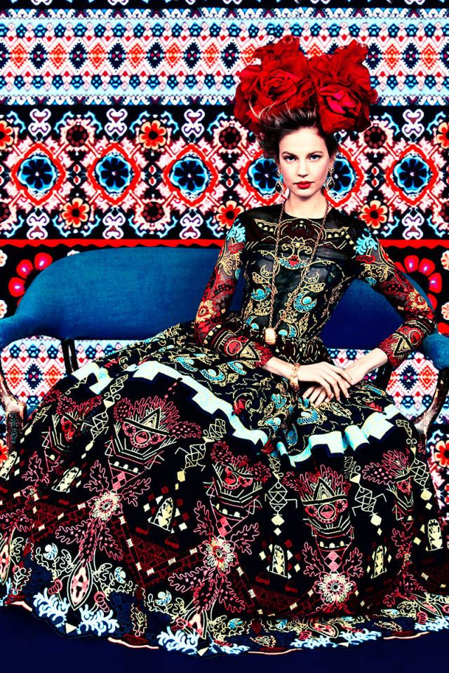 Prints of the Season. Pattern recognition. Valentino dress