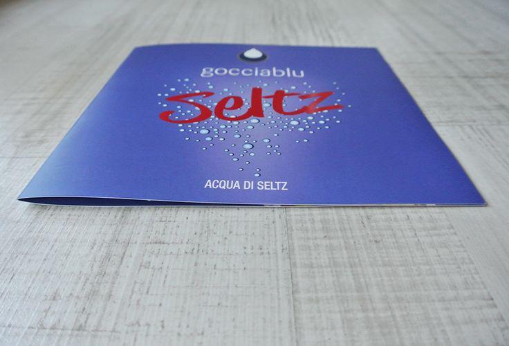 Goccia Blu Acqua di Seltz - Brochure #graphic #design