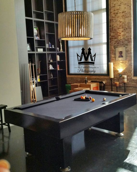 7ft Pool table custom finish. Great for industrial lofts, mancave,  and sportsbar