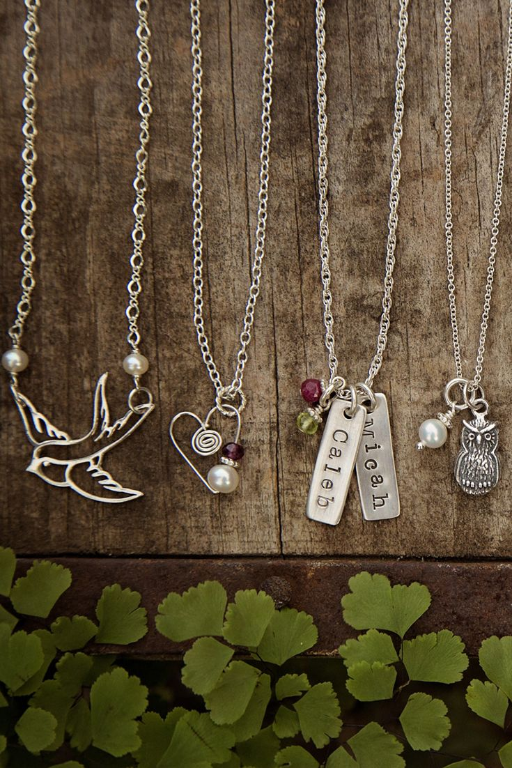 Adorable and personalized charm necklaces from Jules Jewelry.
