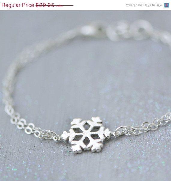 SALE Snowflake Bracelet Sterling Silver by TheJewelryGirlsPlace
