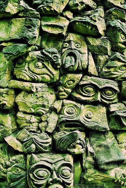 statues-and-monuments:  statues-and-monumentsGargoyle wall by scraff1967