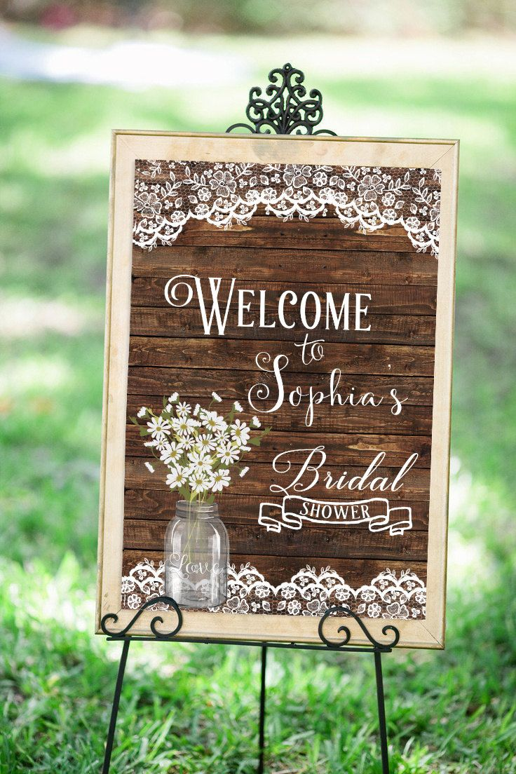guess who bridal shower game printable%0A Wedding Welcome Sign  u   a Bridal Shower Welcome Sign  u   a Bridal Shower Sign  Printable  u   a Rustic
