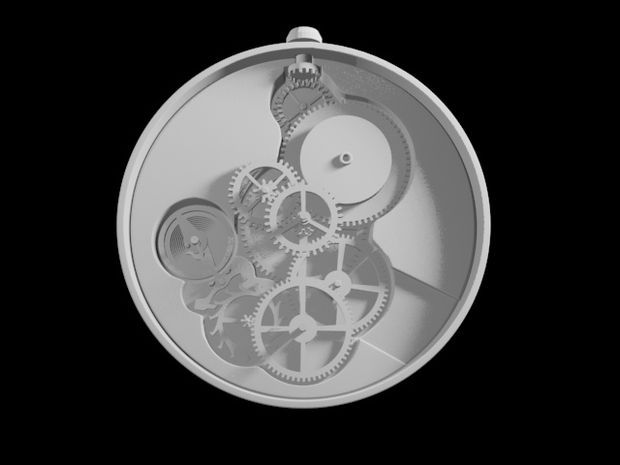 Picture of Mechanical Pocket Watch for 3D Print