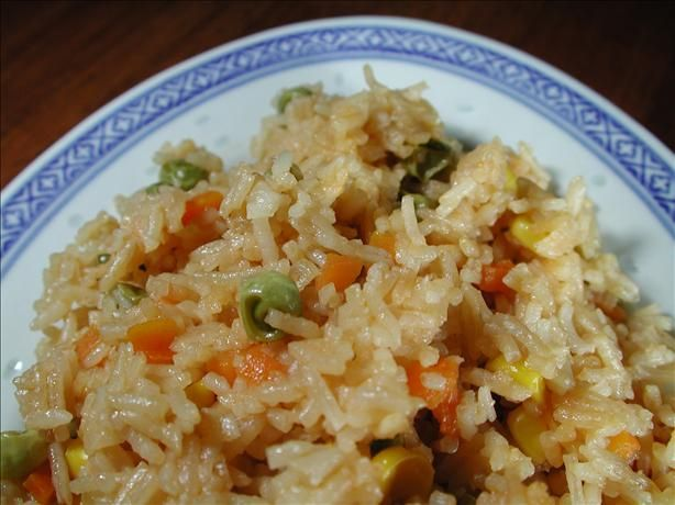 Microwave version of fried rice, great for the dorm! http://australian.food.com/recipe/microwave-fried-rice-94211