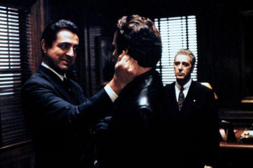 Joe Mantegna as Joey Zasa, Andy García as Vincent Corleone and Al Pacino as Don…