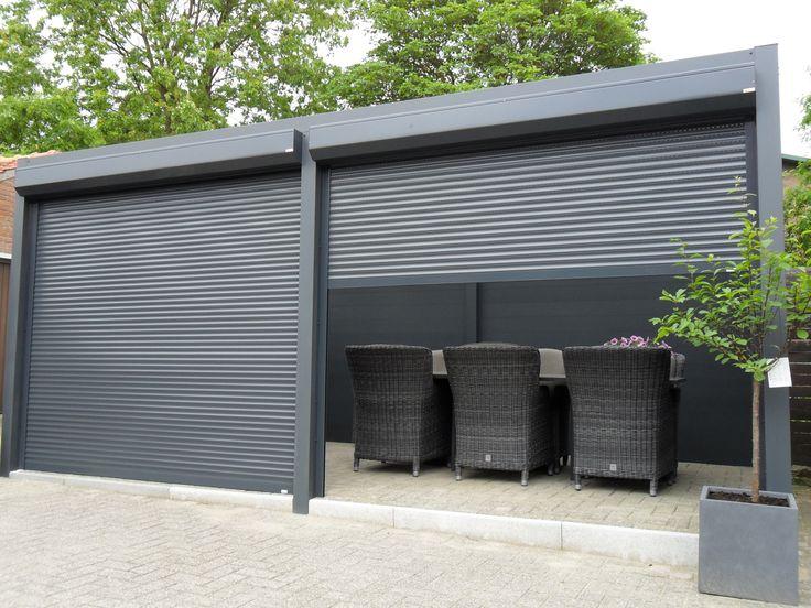 Vrijstaande terrasoverkapping overkapping tuinkamer veranda aluminium volledig - Aluminium pergola met schuifdeksel ...