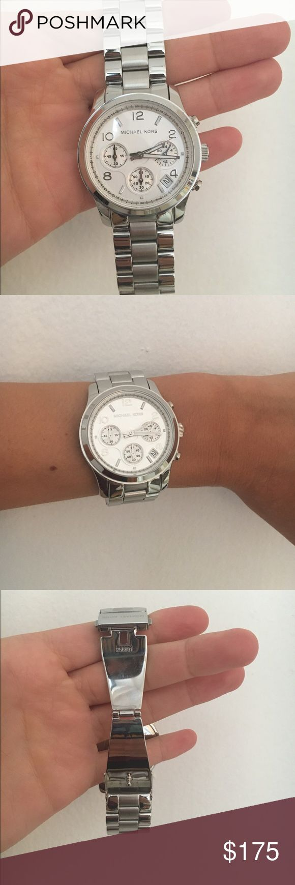 Michael Kors silver watch Michael Kors silver watch. Great condition and barely worn. Michael Kors Accessories Watches
