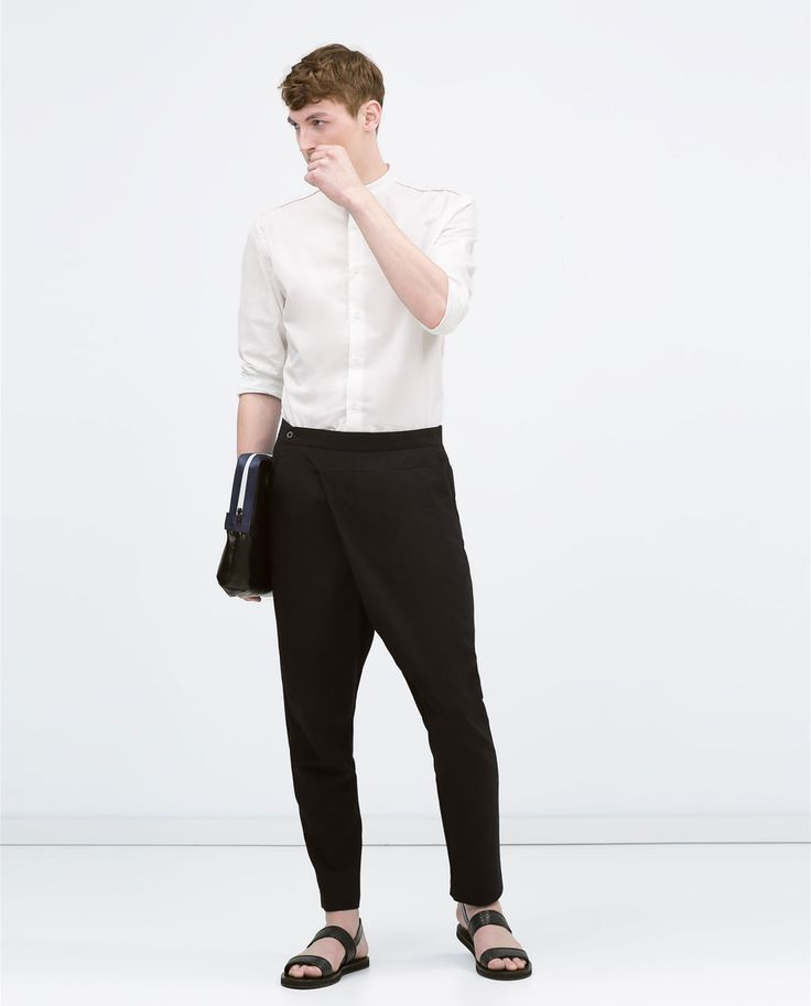 Image 1 of Seersucker trousers from Zara