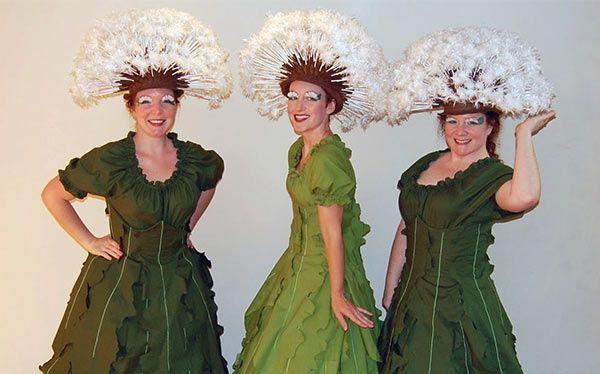 Inspiration, alle Accessoires und eine Schmink-Anleitung, damit du dein Pusteblume Kostüm selber machen kannst.