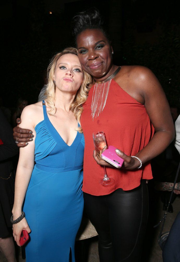 Leslie Jones and Kate McKinnon at Ghostbusters (2016)