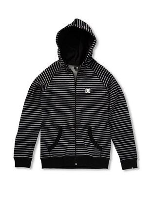 66% OFF DC Boy's Cage Stripe-BY Hoodie (Black)
