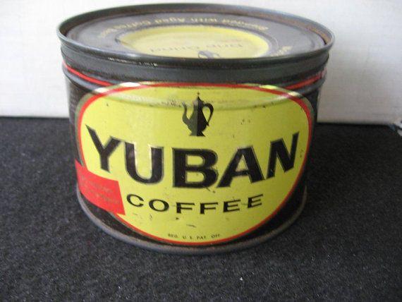 Vintage Yuban Coffee Tin - Key Wind on Etsy, $21.99