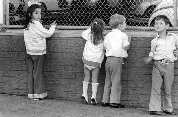 Kids & Dodgem Cars, Luna Park, St Kilda 1974. Rennie Ellis