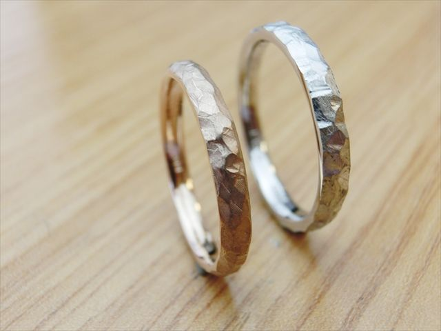 material:k18pg/pt wide:3mm option:birthstone http://www.yubiwatsukuru.com/