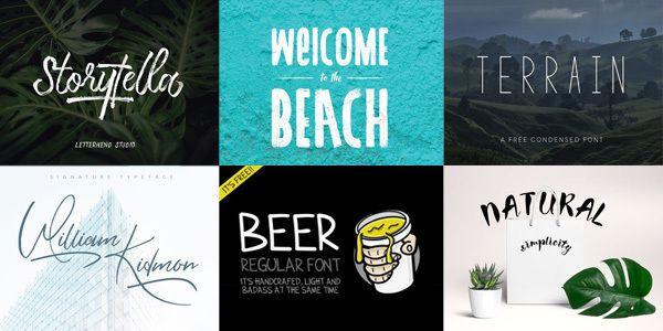 """""""30 typographies gratuites publiées pour cet été 2017"""""""