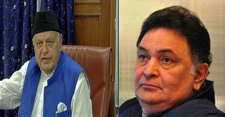 Farooq Abdullah and Rishi Kapoor