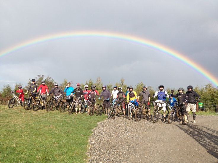 Group fun day out at Bike Park Ireland with glorious sunshine!