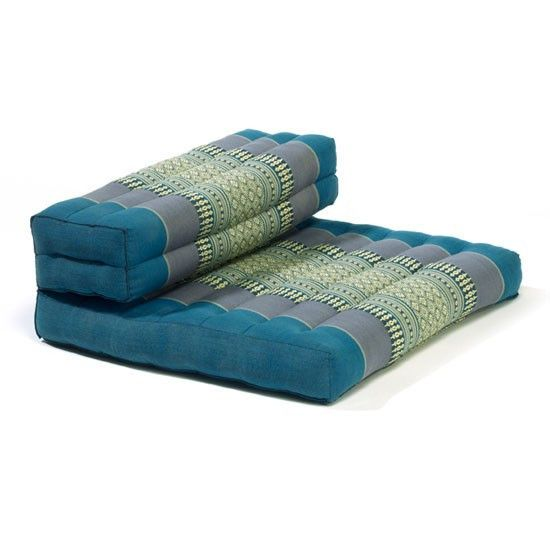 """Our square Dhyana™ meditation and yoga cushion is considered the """"perfect"""" tool for meditation, Pranayama (breathing) and relaxation. Aqua"""