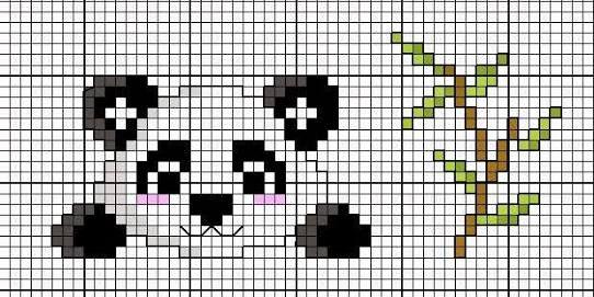 point de croix panda ile ilgili görsel sonucu