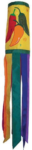 Wind Sculptures n Spinners  In the Breeze Pepper Fiesta Windsock, 40-Inch *** This is an Amazon Associate's Pin. Click the VISIT button to view the details on Amazon website.