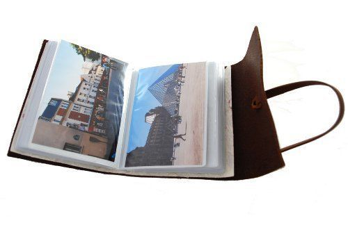 RUSTIC PHOTO ALBUM JOURNEY - Leather Bound Great Gift For NewlyWeds-Classic Feel