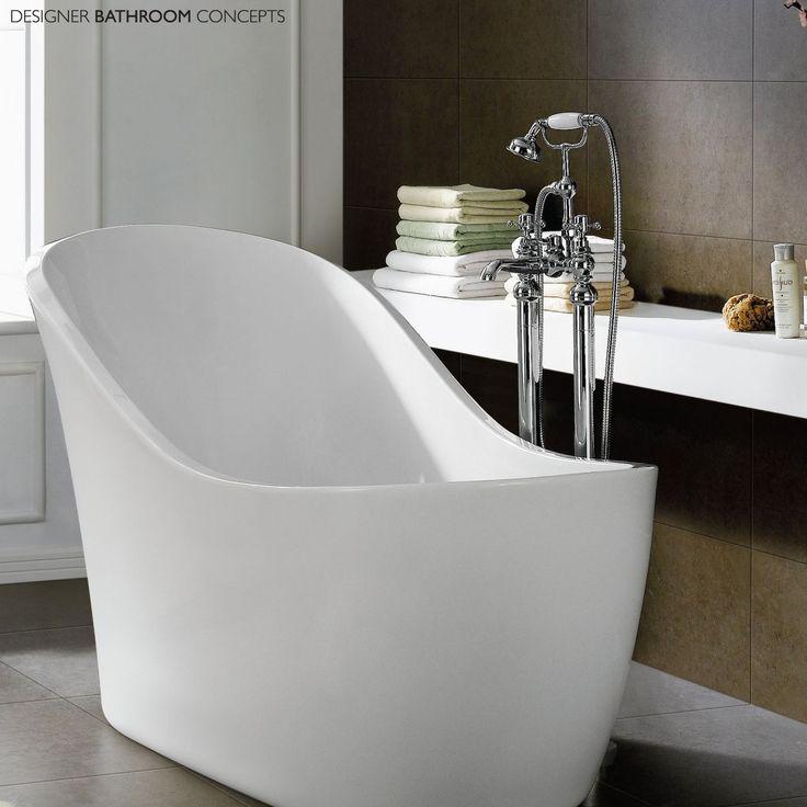 modern bathroom fountain valley reviews%0A Freestanding Slipper Bath Modern Bathroom Acrylic White Bathtub in Home   Furniture  u     DIY  Bath  Baths