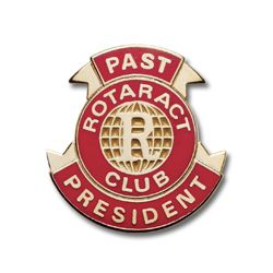 Russell-Hampton Co. Rotary Club Supplies: Gold Plated Rotaract Past President Lapel Pin