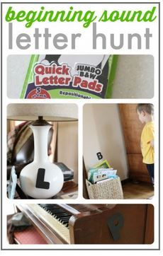 Speech-Language Activity of the Week: Beginning Sound Letter Hunt - pinned by @PediaStaff – Please Visit ht.ly/63sNtfor all our pediatric therapy pins