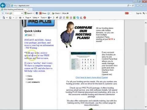 http://youtu.be/MRnmp5ZR0ec - Website hosting with full cpanel hosting included. Hosting a website starts at only $2.99. We also provide website traffic and a lot of other hosting and website services and free traffic exchanges