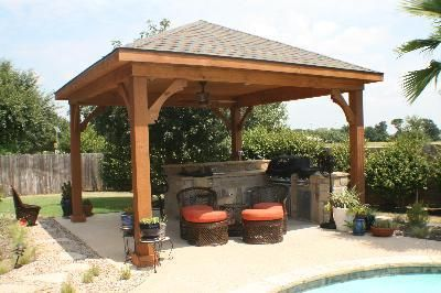45 best images about backyard bbqs outdoor kitchens for Garden cabana designs