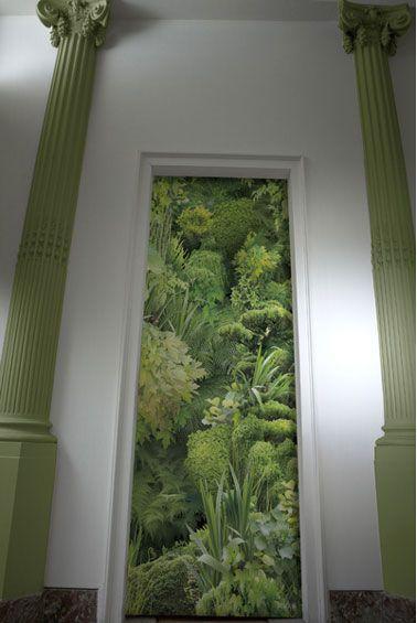 papier peint imitation mur vegetal Koziel