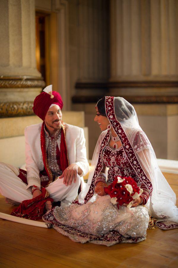 Sikh Wedding Ceremony gorgeous attire.