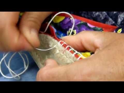 como coser alpargatas - YouTube