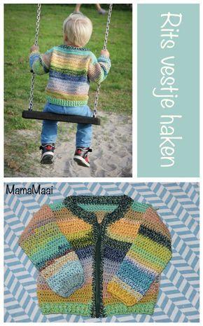 Rits Vestje Haken Overig Kinderen Haken Crochet En Baby