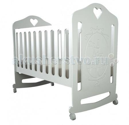 Forest Принцесса качалка  — 3600р. -----------------------------  Детская кроватка Forest Принцесса качалка - с резьбой в виде замка станет прекрасным украшением для комнаты Вашей малышки.  Кроватка оснащена полозьями качания,обеспечивающими мягкие и плавные движения кроватки.  Регулируемое в двух положениях дно кроватки позволяет малышу проводить своё время с максимальным комфортом и является очень удобным для использования родителями.  Особенности: Кроватка изготовлена из…