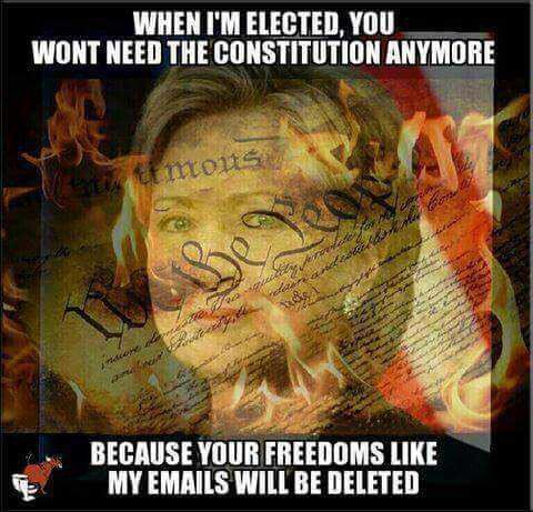 When I'm elected you won't need the Constitution anymore...