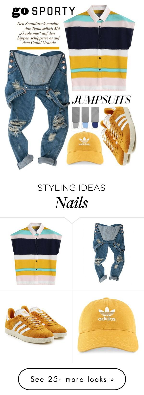 """Untitled #480"" by aleebuda on Polyvore featuring adidas, adidas Originals, Burberry and jumpsuits"