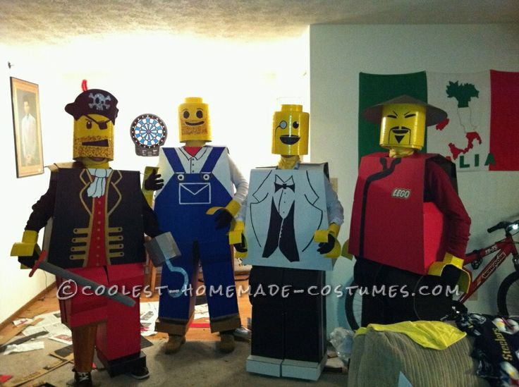 coolest lego men group halloween costume - Halloween Games For Groups