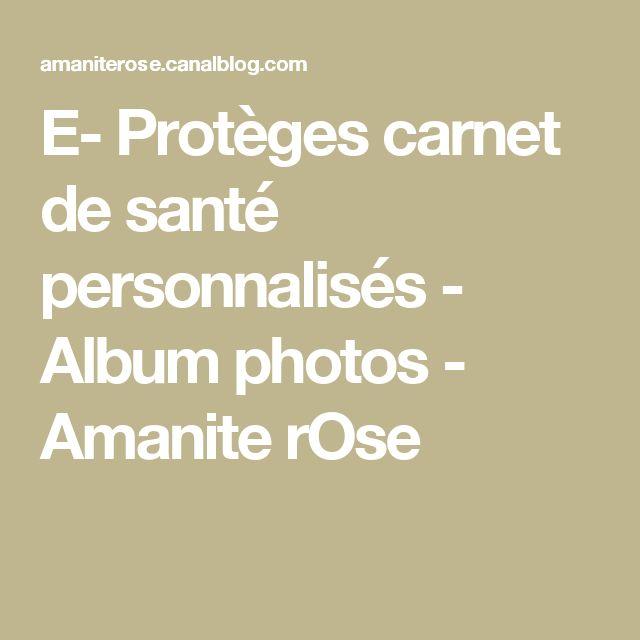 E- Protèges carnet de santé personnalisés - Album photos - Amanite rOse