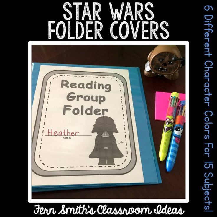 Your students will love getting organized with these adorable Star Wars space themed student binders. You will love how easy it is to print these Star Wars covers for your students' homework folders. You can use the characters to organize your reading groups, math groups, etc. These bright & colorful covers will liven up your classroom with a student loved Star Wars theme! There are SIX different characters included in this download, Yoda, Darth Vader, Chewbacca, C-3PO, R2-D2, & Princess…