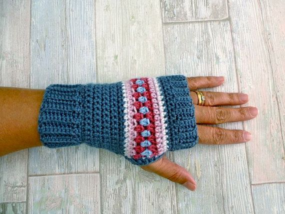 Crochet Wrist Warmers Pattern - Nordic Wrist Warmers - Crochet Fingerless Gloves Pattern - US and UK terms and Swedish  MAKE YOUR OWN NORDIC WRIST WARMERS/FINGERLESS GLOVES with this Step-by-step crochet pattern written in US, UK and Swedish terms. A classy and timeless wrist warmer/fingerless glove for chilly days, made in a design inspired by Scandinavian folk art and Fair Isle motives. It is a fun and satisfying pattern, suitable for any level crocheter who has the basic skill...