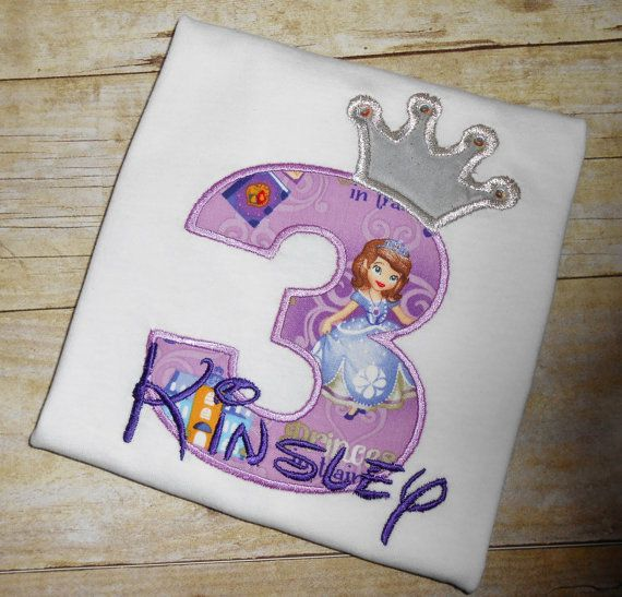 Design Your Own Birthday Number Princess Sofia Character
